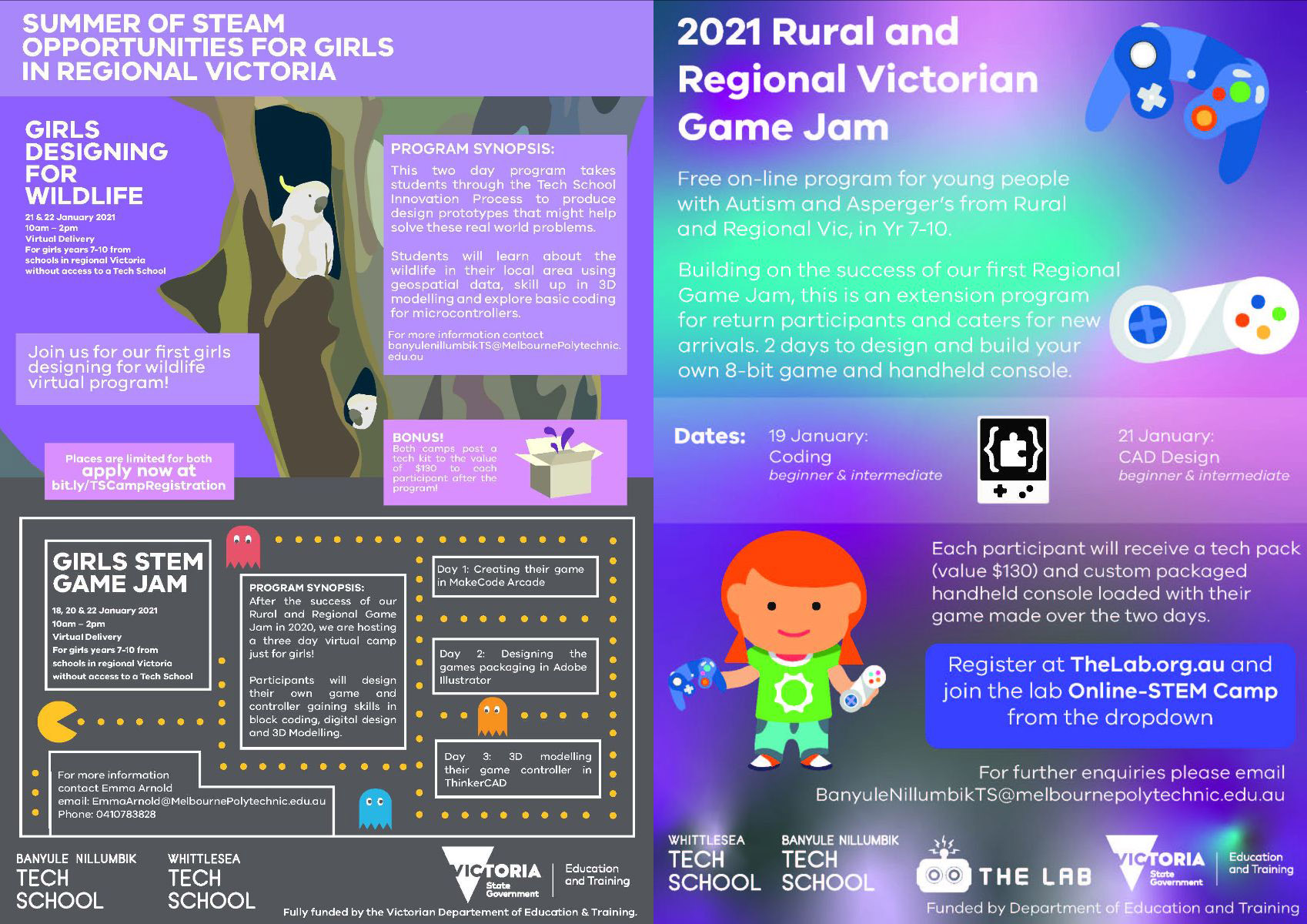 STEM Camps posters